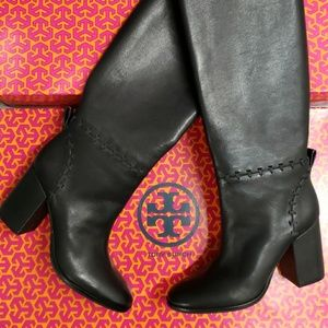 TORY BURCH black leather boots. NWT